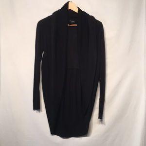 WHBM Black Shawl Collar Cardigan Size Small